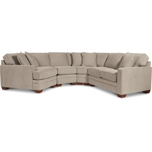 4-Pc Sectional w/ RAS Cuddler