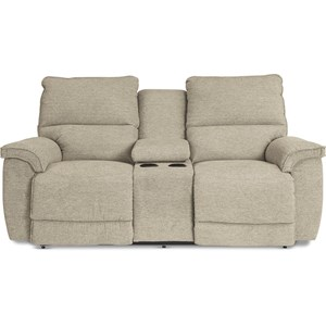 Power La-Z-Time Reclining Loveseat w/Cons