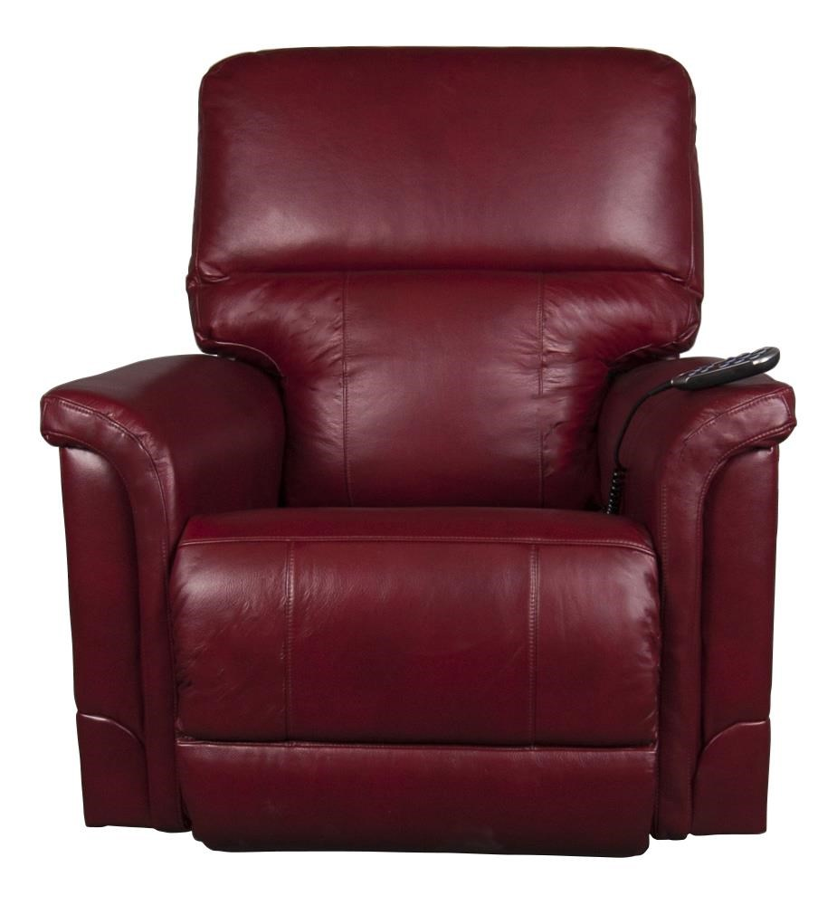 Oscar Leather-Match Recliner w/pwr Lumbar