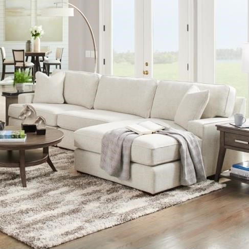 Paxton 3-Seat Chaise Sectional with Right Chaise by La-Z-Boy at Godby Home Furnishings