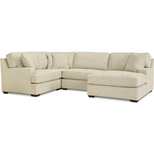 3-Seat Sectional Sofa w/ Right Chaise