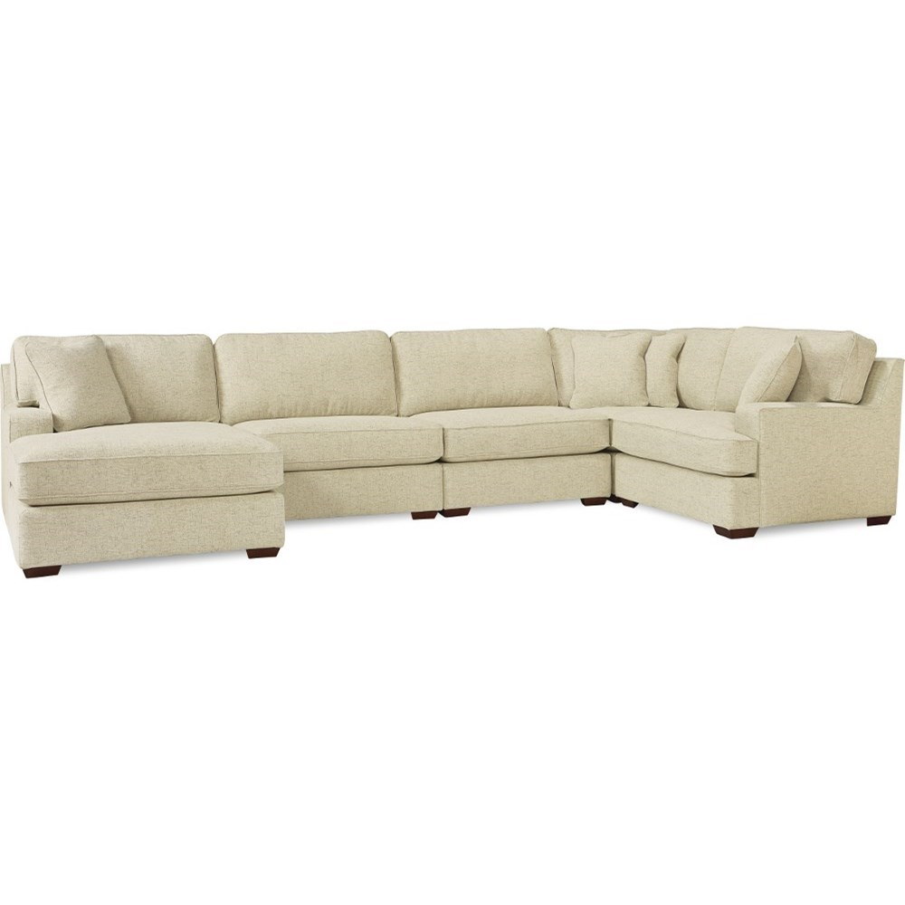 La Z Boy Paxton 4 Seat Premier Sectional Sofa With Comfort Core Cushions And Wide Chaise Lindy S Furniture Company Sectional Sofas