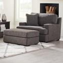 La-Z-Boy Paxton Oversized Chair & Ottoman Set - Item Number: 655663+240D165667