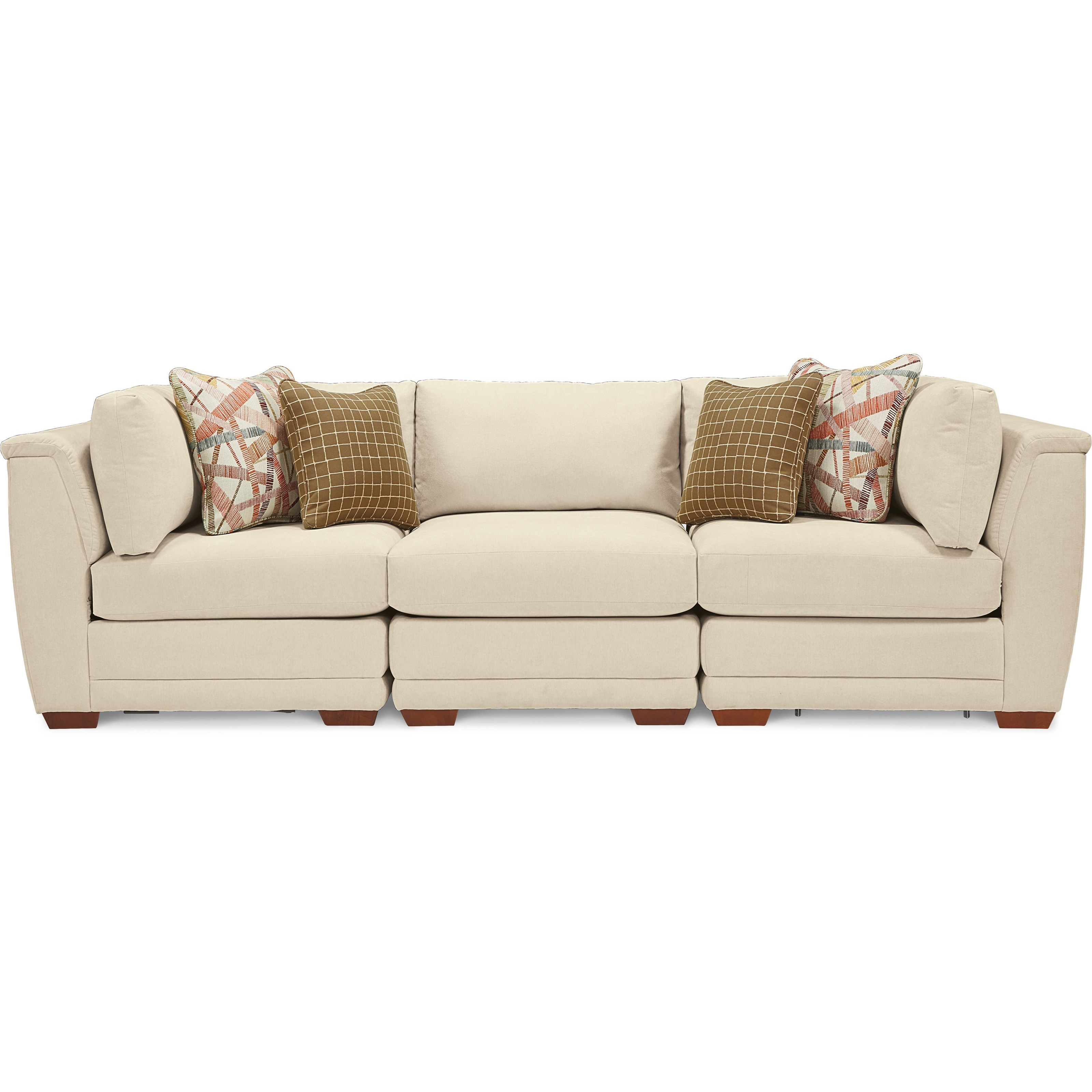 La Z Boy Ridgemont 3 Piece Sectional Sofa With Tapered