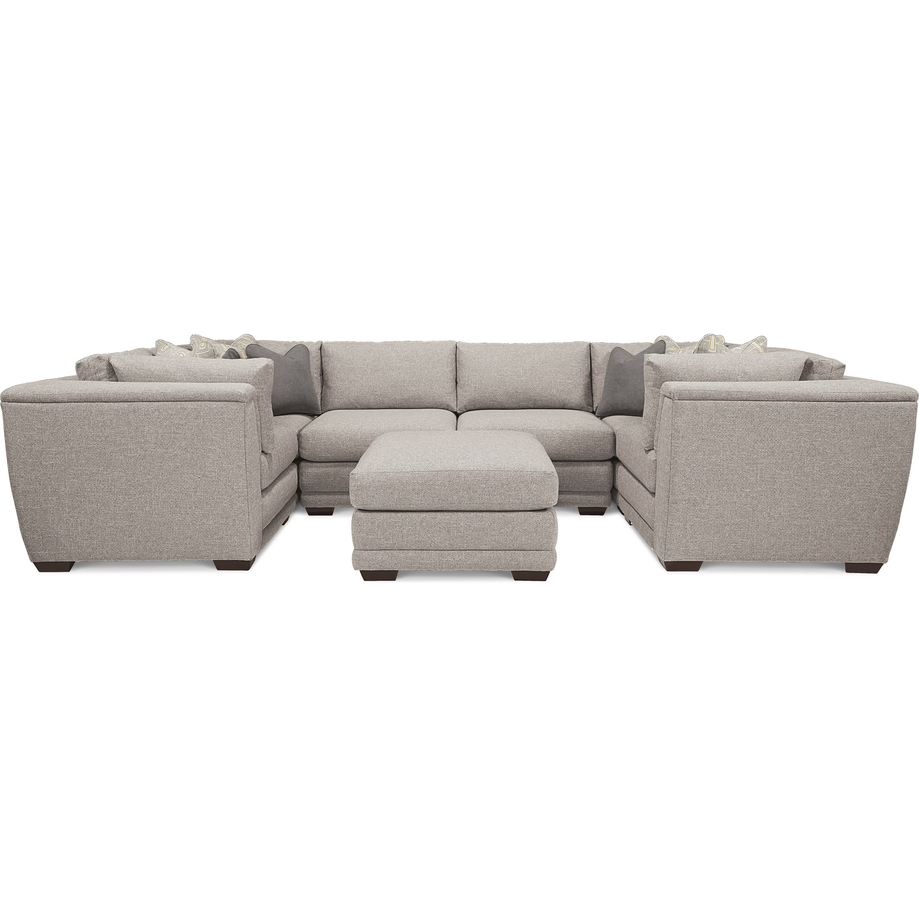 La Z Boy Ridgemont 7 Piece U Shaped Sectional With Ottoman Bennett S Furniture And Mattresses Sectional Sofas