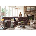 La-Z-Boy Sheldon Casual Three Piece Power Reclining Sectional Sofa