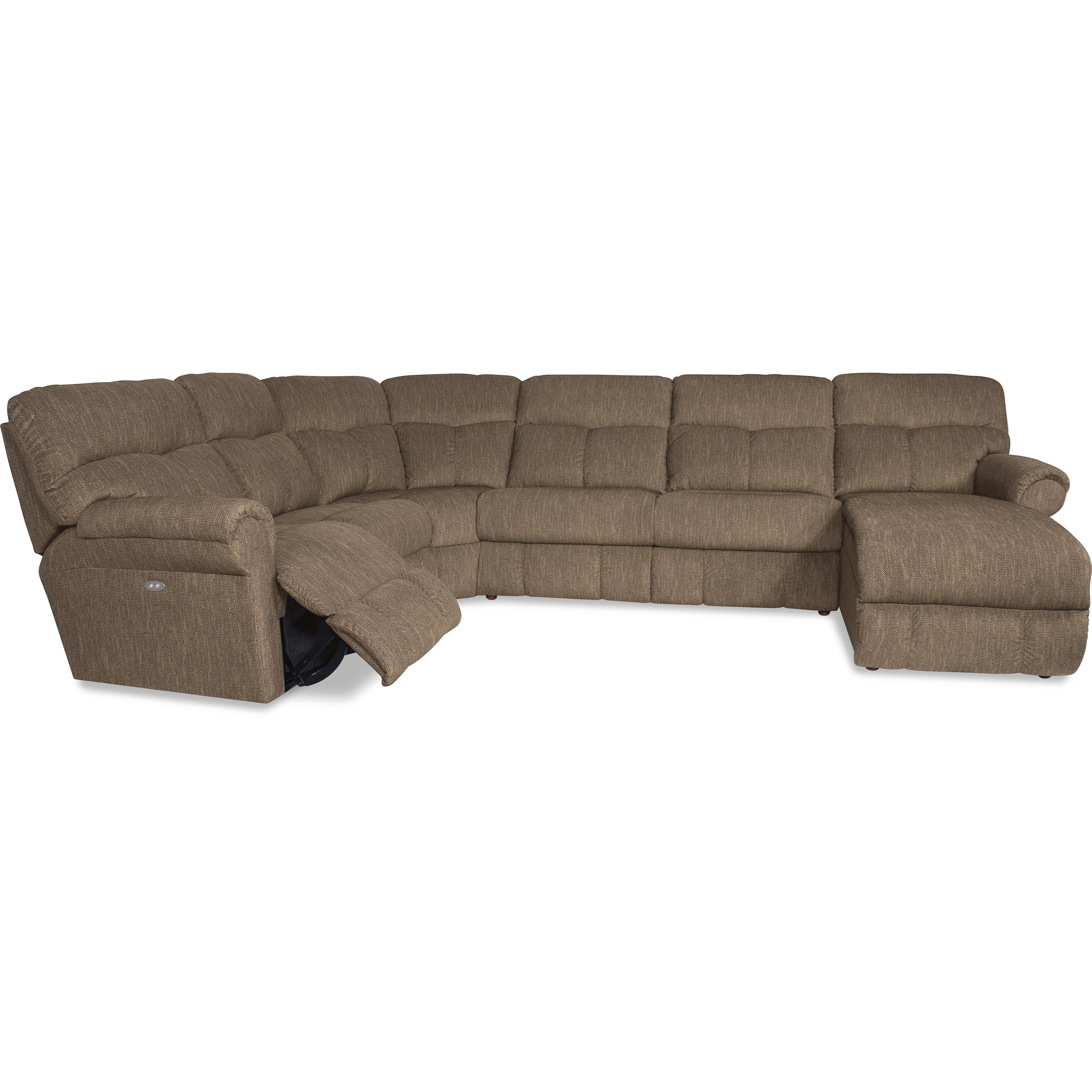 La z boy sheldon casual four piece reclining sectional for 4 piece sectional sofa with chaise