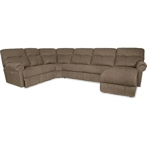 La-Z-Boy Sheldon 4 Pc Reclining Sectional w/ RAF Recl Chaise