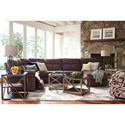 La-Z-Boy Sheldon Casual Four Piece Reclining Sectional with RAF Reclining Chaise and One Power Chair