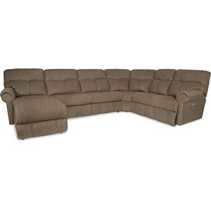 La-Z-Boy Sheldon 4 Pc Reclining Sectional w/ LAF Recl Chaise