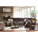 La-Z-Boy Sheldon Casual Four Piece Reclining Sectional with LAF Reclining Chaise and One Power Chair
