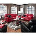 La-Z-Boy SIMONE Contemporary Loveseat with Block Legs