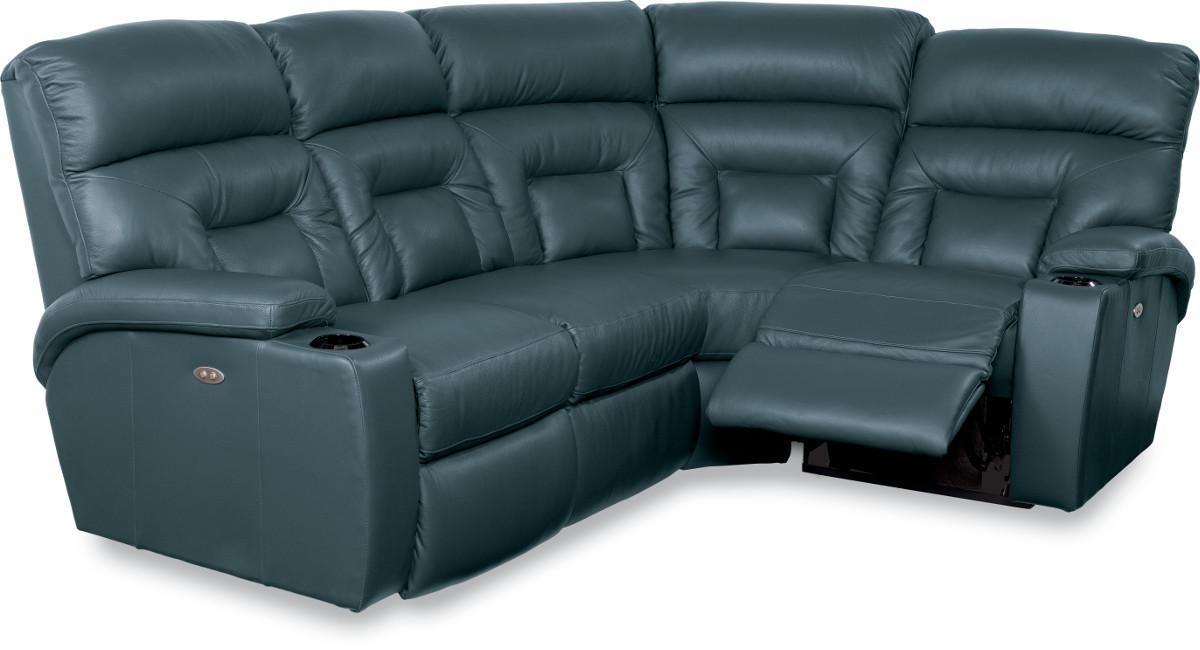 La Z Boy Spectator 4 Pc Reclining Sectional Sofa With