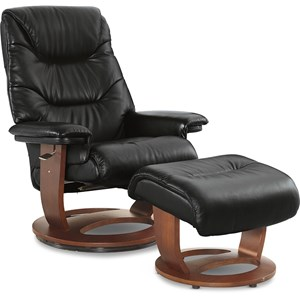 Leather Pedestal Chair & Otto (Walnut)