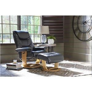 100% Leather Recliner & Ottoman