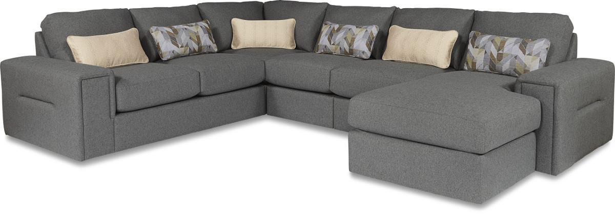la z boy structure five piece modern sectional sofa with rh lindysfurniture com Chaise Bauhaus La Z Boy Devon