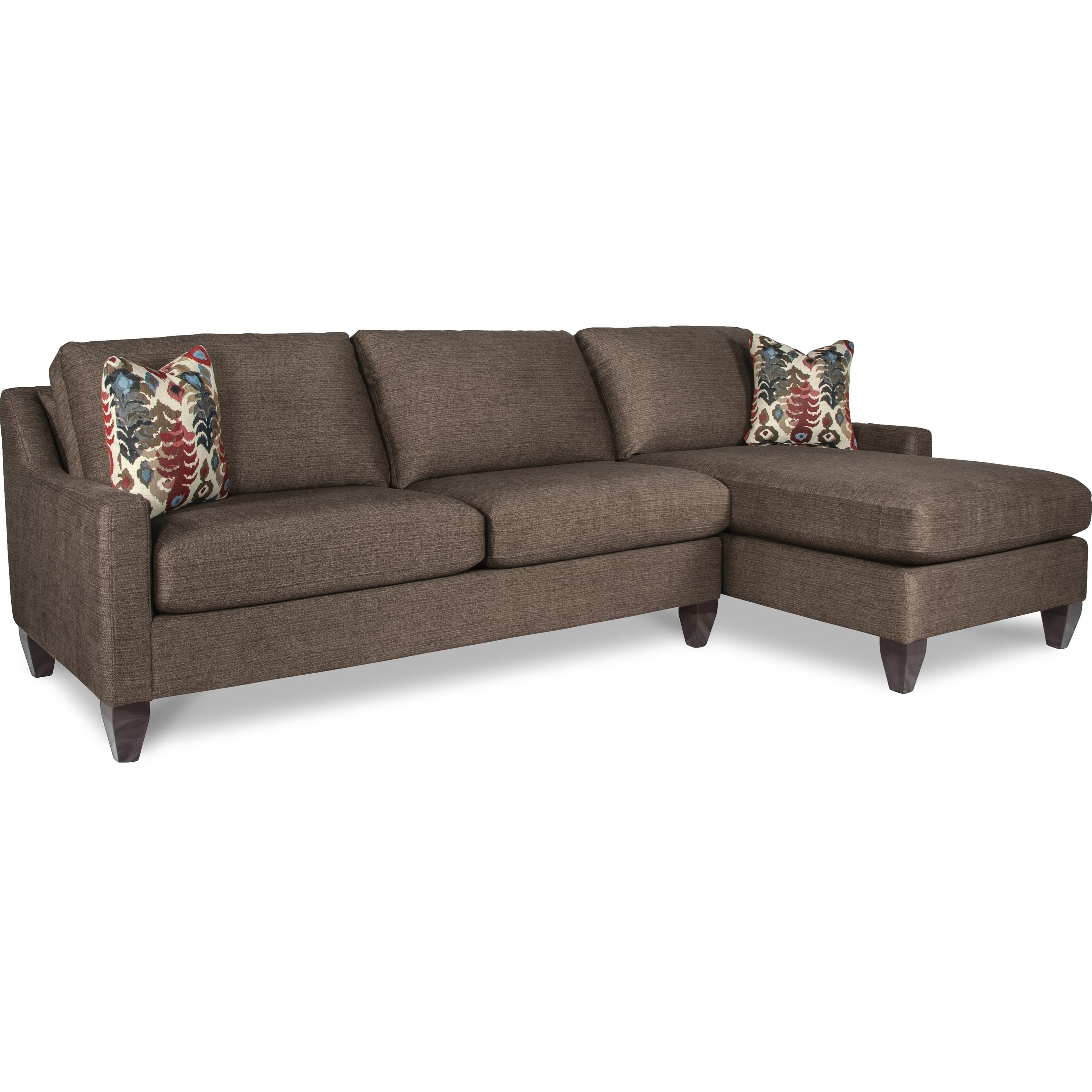 La z boy studio contemporary two piece sectional sofa w for 2 piece sectional with chaise lounge