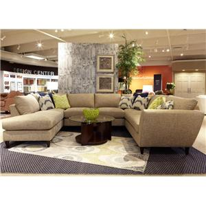 La-Z-Boy Tribeca 5 Pc Sectional Sofa with RAS Chaise