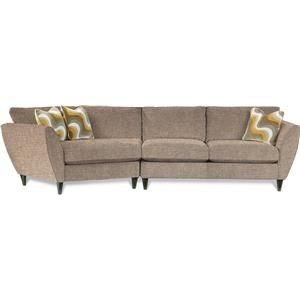 2 Pc Sectional Sofa with RAS Cuddler