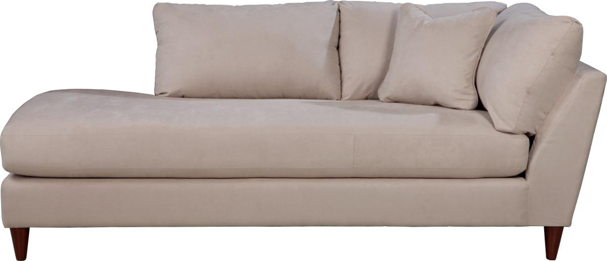la z boy tribeca contemporary right arm sitting chaise lounge with