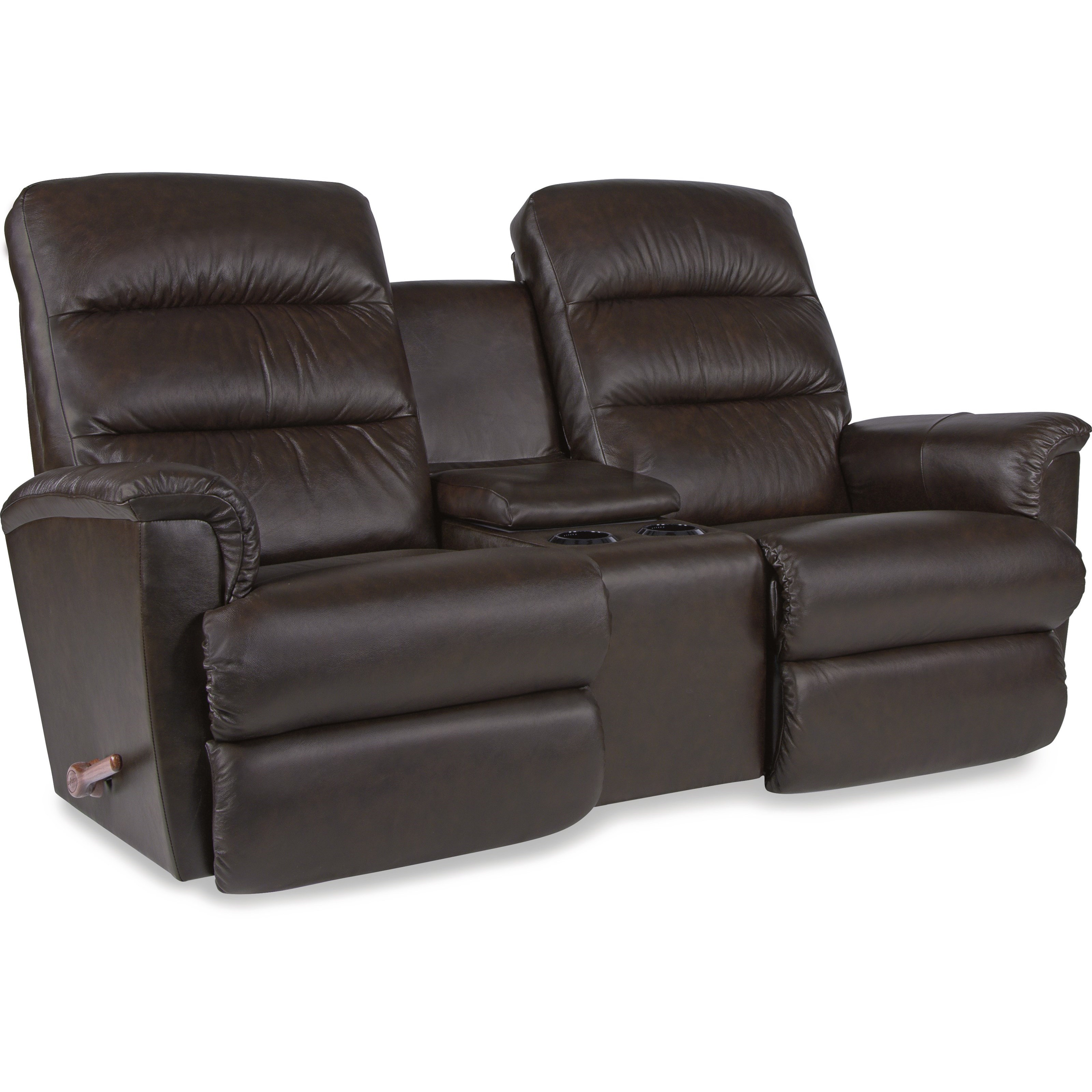 La z boy tripoli wall saver reclining loveseat with cupholder and storage console knight - Ways of accessorizing love seats ...