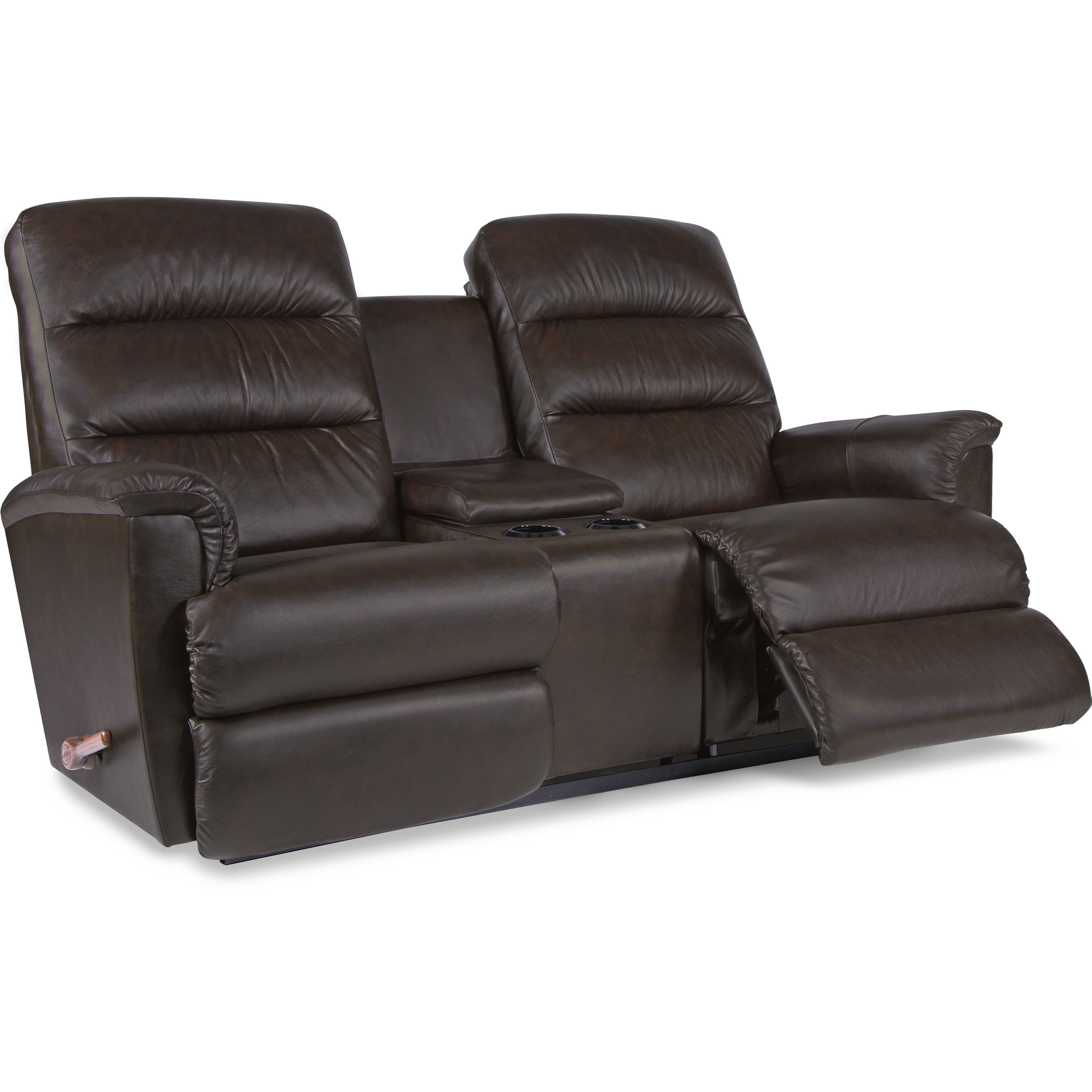 La z boy tripoli wall saver reclining loveseat with cupholder and storage console zak 39 s fine - Ways of accessorizing love seats ...