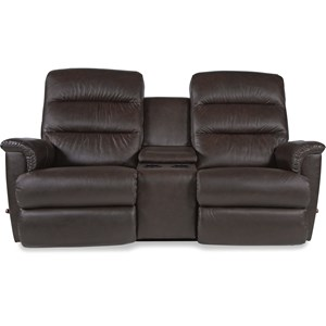 Reclina-Way® Full Reclining Loveseat w/ Midd