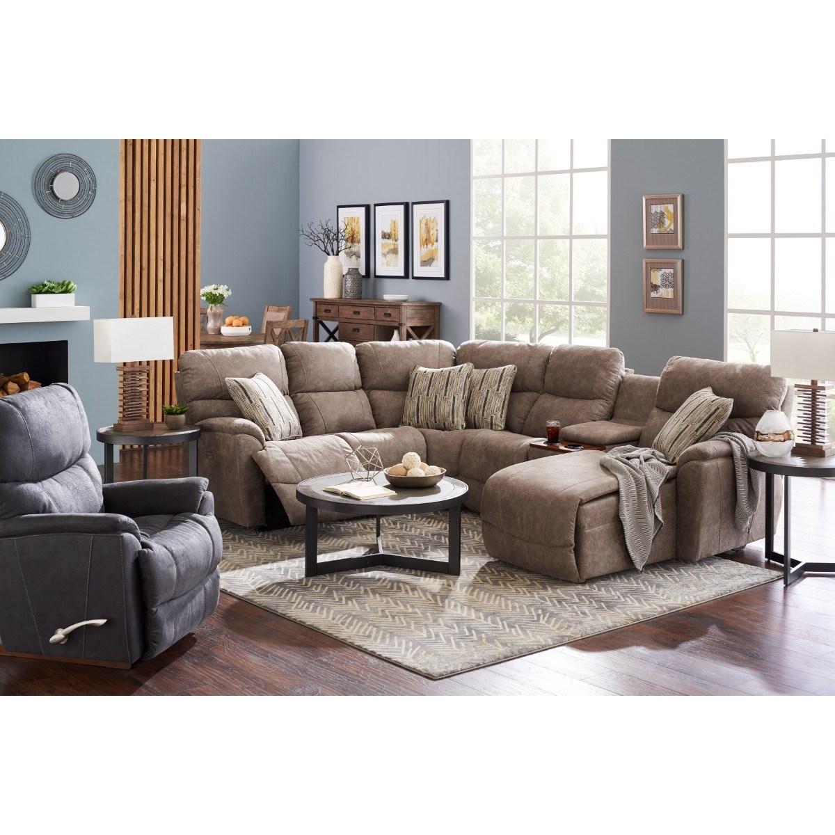 La Z Boy Trouper Five Piece Power Reclining Sofa With Left