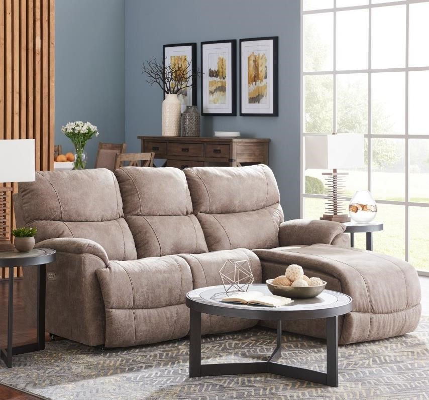 2 Pc Pwr Reclining Sofa w/ LAS Chaise