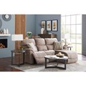 La-Z-Boy Trouper Two Piece Reclining Sectional Sofa with Left-Sitting Tilt Back Chaise - Sofa shown may not represent exact features indicated
