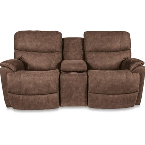 La-Z-Boy Trouper La-Z-Time?Full Reclining Loveseat w/Console