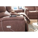 La-Z-Boy Trouper Power Reclining Loveseat with Cupholder Storage Console and USB Charging Ports