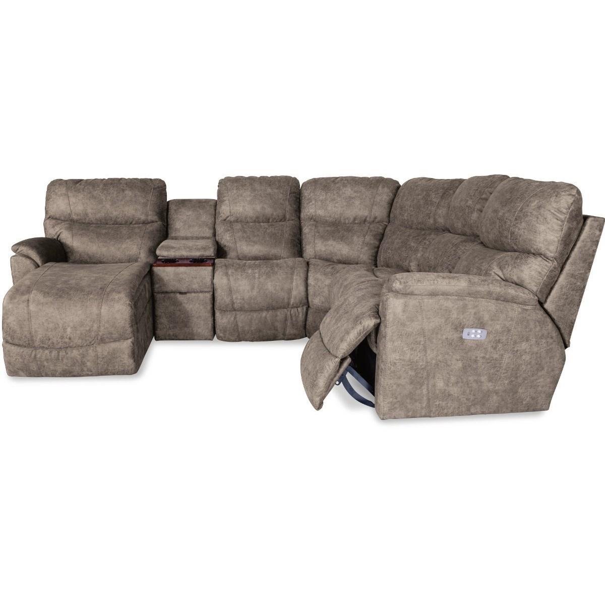 La Z Boy Trouper Five Piece Power Reclining Sofa With