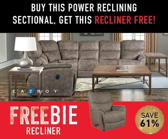 Trouper Trouper Reclining Sectional with FREEBIE! by La-Z-Boy at Morris Home