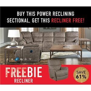 Trouper Reclining Sectional with FREEBIE!