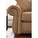 La-Z-Boy Wales Traditional Loveseat with Rolled Arms and Two Sizes of Nailheads