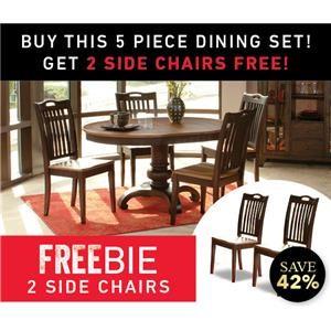 Grafton 5 Piece Dining Set with Freebie