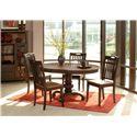 Morris Home Furnishings Grafton Grafton 5 Piece Dining Set - Item Number: 130-456T/B/400(4)