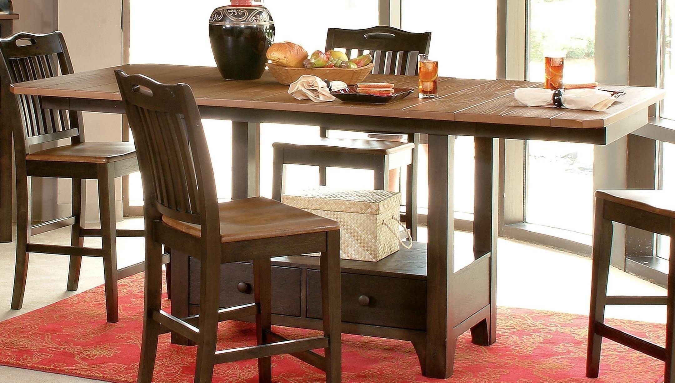 Morris Home Furnishings Grafton Grafton Dining Counter Table Top & Base - Item Number: 130-484T/B