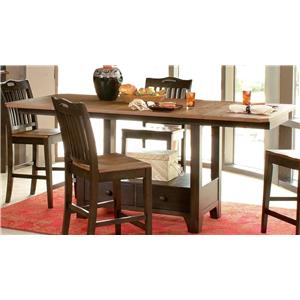 Morris Home Furnishings Grafton Grafton Dining Counter Table Top & Base