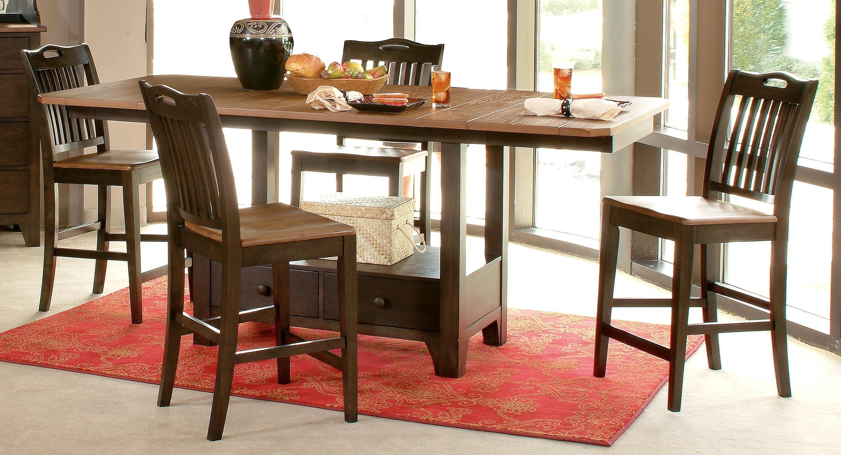Morris Home Furnishings Grafton Grafton 5 Piece Counter Dining Set - Item Number: 130-484T/B/402(4)