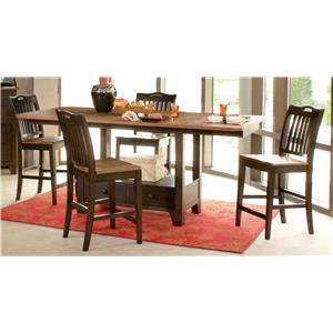 Morris Home Furnishings Grafton Grafton 5 Piece Counter Dining Set