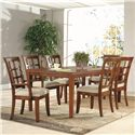 Lacquer Craft USA Anson Side Chair w/ Grid Back - Shown with Rectangular Dining Table and Arm Chair