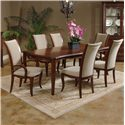 Morris Home Furnishings South Hampton Upholstered Arm Chair - Shown with Side Chairs and Dining Table