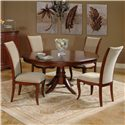 Morris Home Furnishings South Hampton Traditional Single Pedestal Table - Shown with Side Chairs