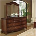 Lacquer Craft USA Avalon Elegant Arched Mirror - Shown with Dresser