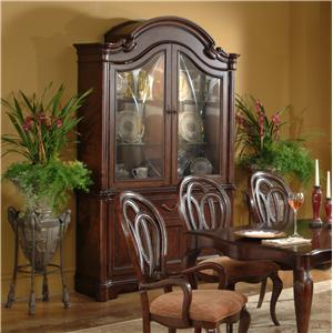 Bon Lacquer Craft USA Cortona Traditional China Cabinet