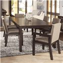 Morris Home Furnishings Metropolis 7 Piece Dining Table - Item Number: LACC-8300-396+4X300+2X301