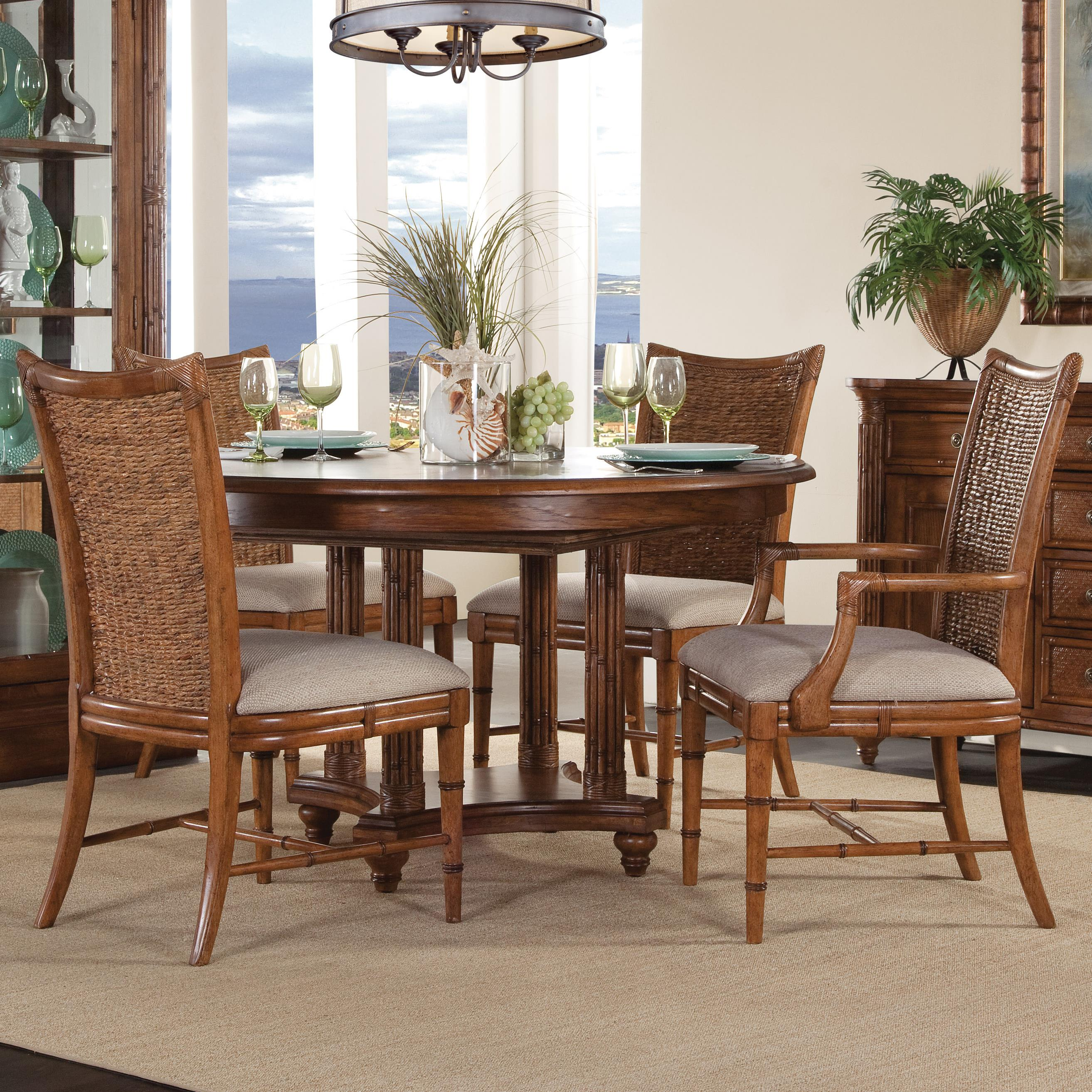 Lacquer Craft USA Paradise Bay 5 Piece Round Dining Package - Item Number: 9005-370 PARADISE BAY