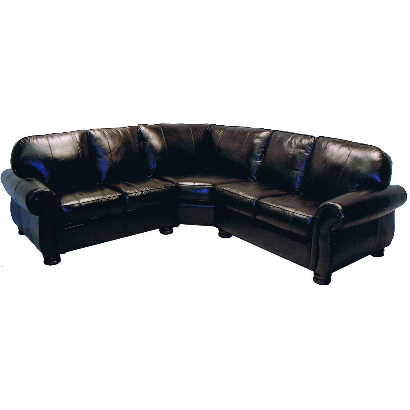 8611 Leather Sectional by LaCrosse at Mueller Furniture